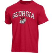 Champion Men's Georgia Bulldogs Red Ring Spun T-Shirt