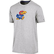 Champion Men's Kansas Jayhawks Grey Crew Performance T-Shirt