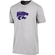 Champion Men's Kansas State Wildcats Grey Crew Performance T-Shirt