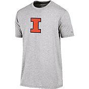 Champion Men's Illinois Fighting Illini Grey Crew Performance T-Shirt