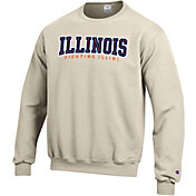 Champion Men's Illinois Fighting Illini Grey Powerblend Pullover Sweatshirt