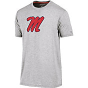 Champion Men's Ole Miss Rebels Grey Crew Performance T-Shirt