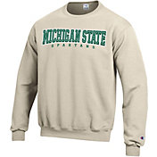 Champion Men's Michigan State Spartans Grey Powerblend Pullover Sweatshirt