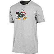 Champion Men's Miami Hurricanes Grey Crew Performance T-Shirt