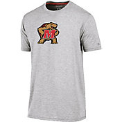 Champion Men's Maryland Terrapins Grey Crew Performance T-Shirt