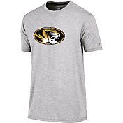 Champion Men's Missouri Tigers Grey Crew Performance T-Shirt