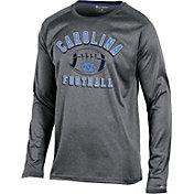 Champion Men's North Carolina Tar Heels Grey Long Sleeve Football T-Shirt