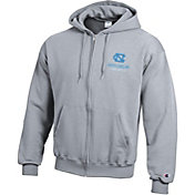 Champion Men's North Carolina Tar Heels Grey Powerblend Full-Zip Hoodie