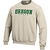 Champion Men's Oregon Ducks Grey Powerblend Pullover Sweatshirt