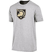 Champion Men's Army West Point Black Knights Grey Crew Performance T-Shirt