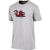Champion Men's South Carolina Gamecocks Grey Crew Performance T-Shirt