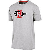 Champion Men's San Diego State Aztecs Grey Crew Performance T-Shirt