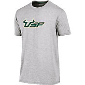 Champion Men's South Florida Bulls Grey Crew Performance T-Shirt