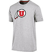 Champion Men's Utah Utes Grey Crew Performance T-Shirt