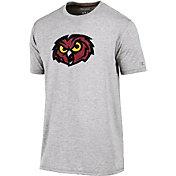 Champion Men's Temple Owls Grey Crew Performance T-Shirt