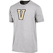 Champion Men's Vanderbilt Commodores Grey Crew Performance T-Shirt