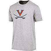 Champion Men's Virginia Cavaliers Grey Crew Performance T-Shirt