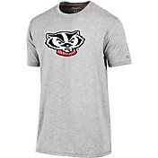 Champion Men's Wisconsin Badgers Grey Crew Performance T-Shirt