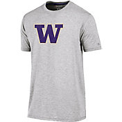 Champion Men's Washington Huskies Grey Crew Performance T-Shirt