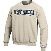 Champion Men's West Virginia Mountaineers Grey Powerblend Pullover Sweatshirt
