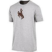 Champion Men's Wyoming Cowboys Grey Crew Performance T-Shirt
