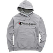 Champion Men's Powerblend Applique Script Fleece Hoodie