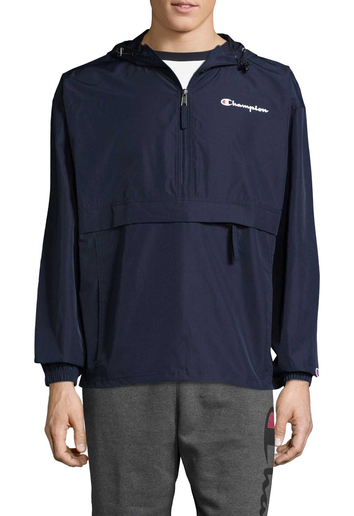 Champion Men's Packable Half-Zip Jacket