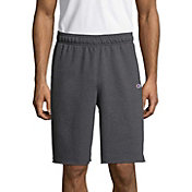 Champion Men's Powerblend Fleece Shorts in Granite Heather