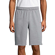 Champion Men's Powerblend Fleece Shorts in Oxford Gray