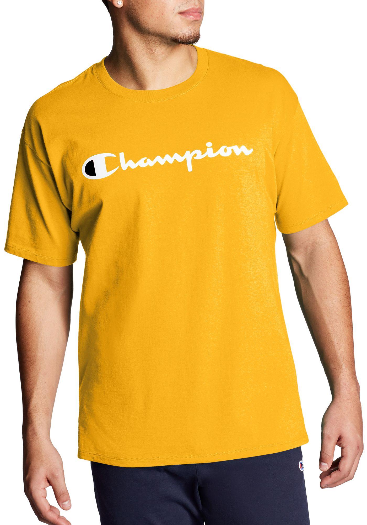 Champion Men's Script Jersey Graphic Tee