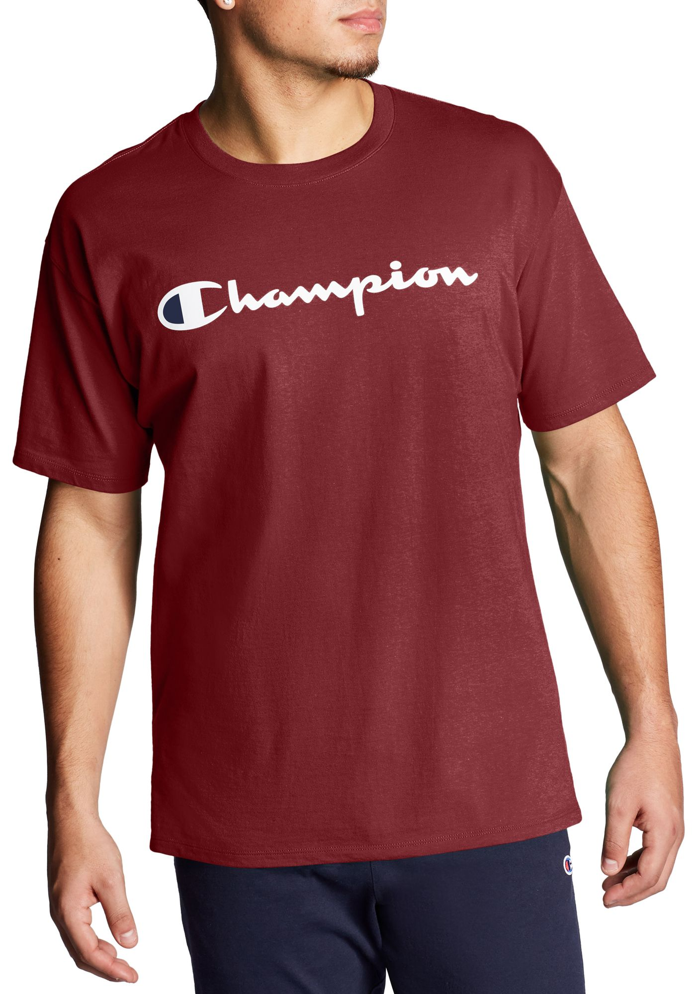 Champion Men's Script Jersey Graphic Tee