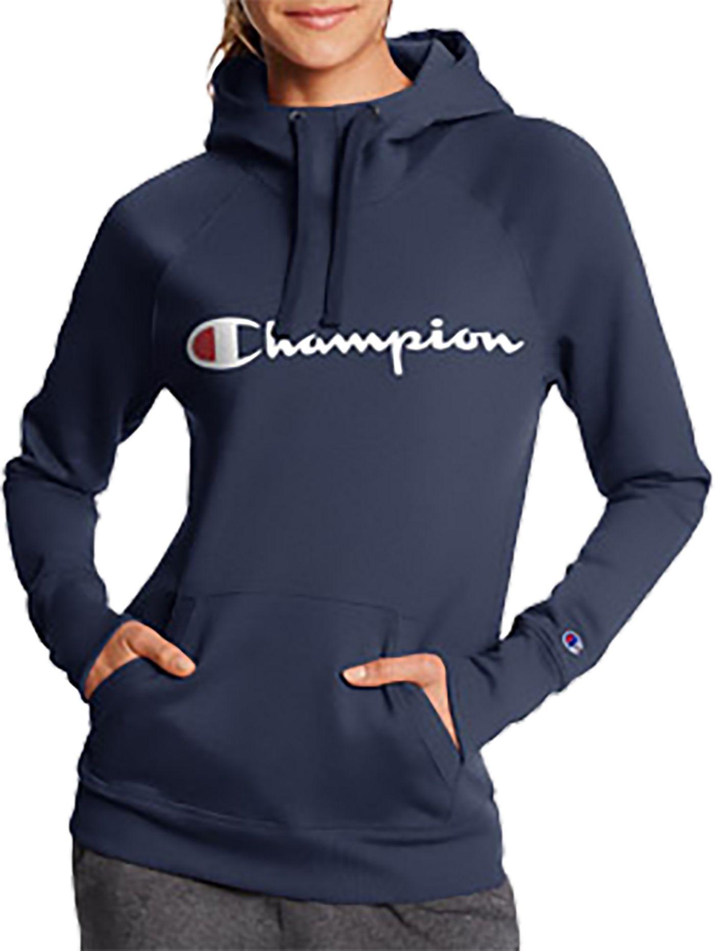 Champion Women's Powerblend Logo Pullover Hoodie