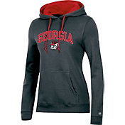 Champion Women's Georgia Bulldogs Grey Pullover Hoodie