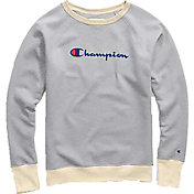 Champion Women's Plus Powerblend Graphic Fleece Crew