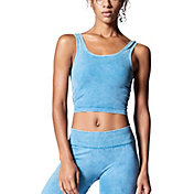 NUX Women's Mineral Wash Be Free Crop Tank Top