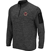 Colosseum Men's Boston College Eagles Grey Quarter-Zip Shirt