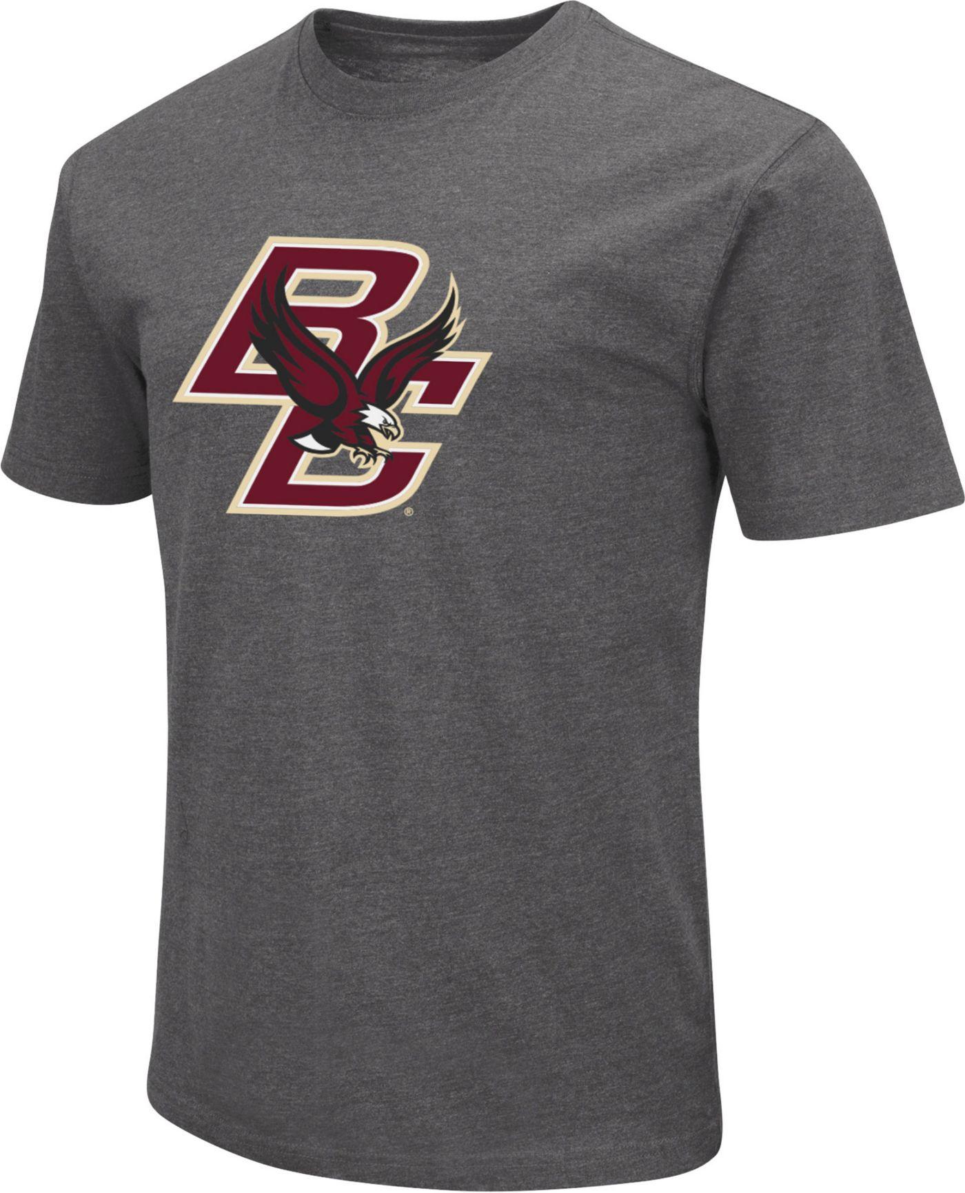 Colosseum Men's Boston College Eagles Grey Dual Blend T-Shirt