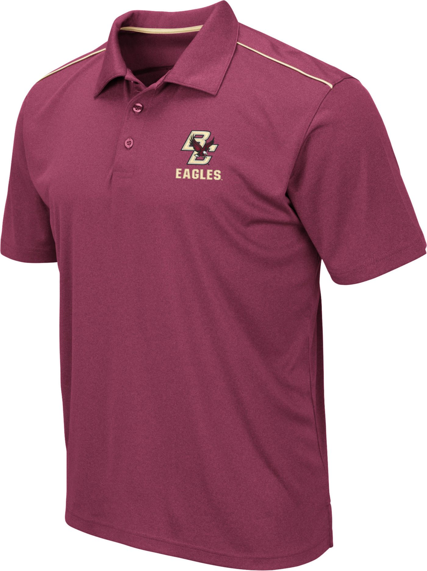 Colosseum Men's Boston College Eagles Maroon Eagle Polo