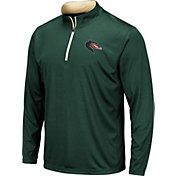 Colosseum Men's UAB Blazers Green Embossed Quarter-Zip Performance Shirt