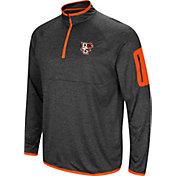Colosseum Men's Bowling Green Falcons Grey Amnesia Quarter-Zip Shirt