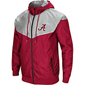 Colosseum Men's Alabama Crimson Tide Crimson/Grey Galivanting Full Zip Jacket