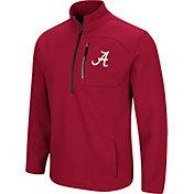 Colosseum Men's Alabama Crimson Tide Crimson Townie Half-Zip Jacket
