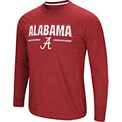 Colosseum Men's Alabama Crimson Tide Crimson Touchdown Long Sleeve T-Shirt