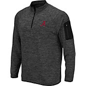 Colosseum Men's Alabama Crimson Tide Grey Quarter-Zip Top