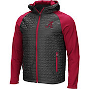 Colosseum Men's Alabama Crimson Tide Grey/Crimson Baseplate Full-Zip Jacket