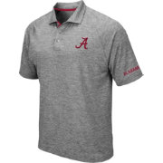 Colosseum Men's Alabama Crimson Tide Grey Chip Shot Polo