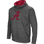 Colosseum Men's Alabama Crimson Tide Grey Fleece Pullover Hoodie