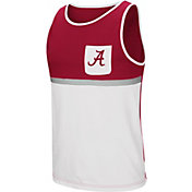 Colosseum Men's Alabama Crimson Tide Crimson/White Lollygaggers Tank Top