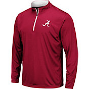 Colosseum Men's Alabama Crimson Tide Crimson Embossed Quarter-Zip Performance Shirt