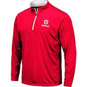Colosseum Men's Bradley Braves Red Embossed Quarter-Zip Performance Shirt